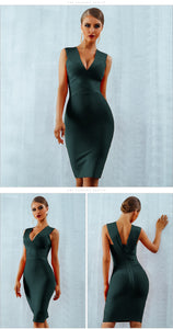 Tank Sexy Deep V-Neck Party Dress