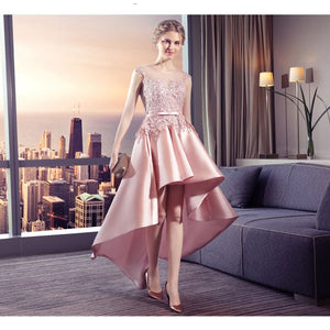 Ball Gowns Satin High Bridal Dress