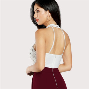 Zip Back Halter Backless Jumpsuit Women