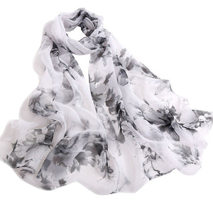Blossom Printing Long Soft Wrap Ladies veil