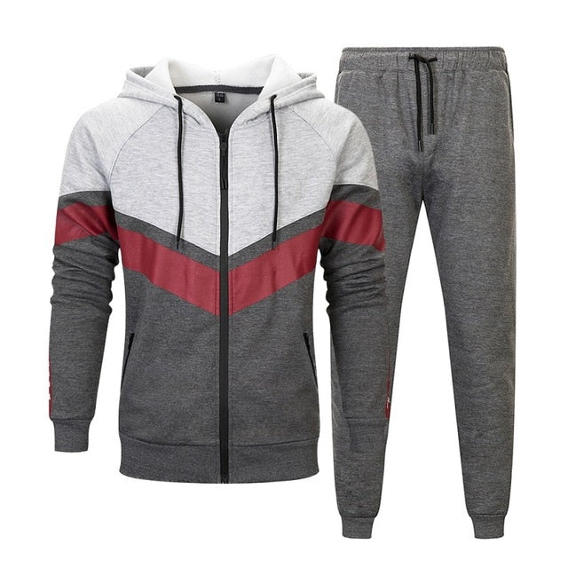 Casual Tracksuit Men Hooded Sets