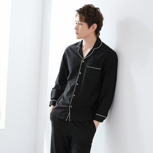 striped pajamas sets mens