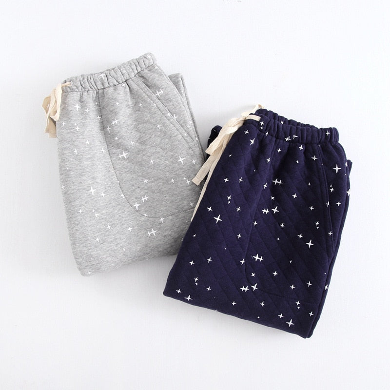 Winter Sexy stars mens night trousers