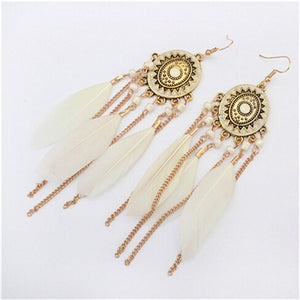 Long Tassel Fashion Feather Style Ethnic