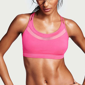Woman Cross Mesh Fitness Bras