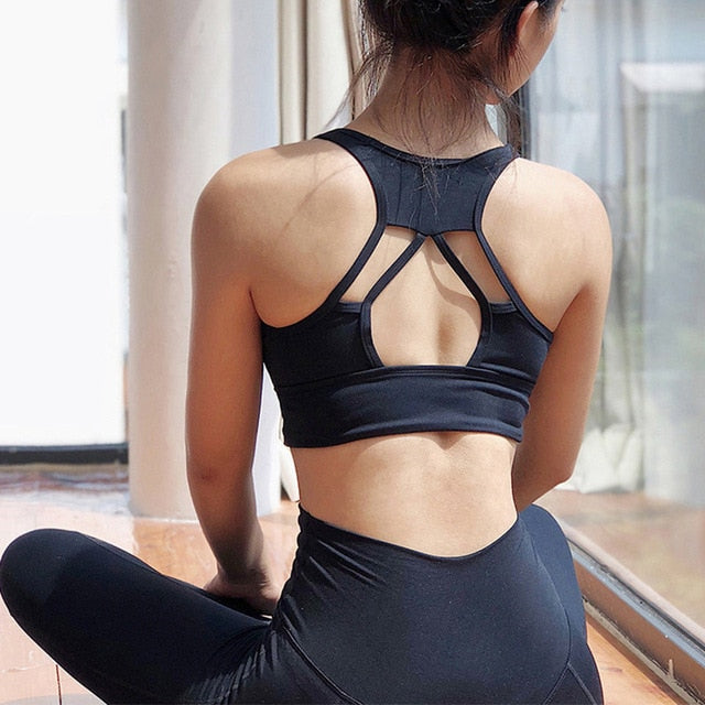 Strappy Brassiere Racerback Activewear For Women