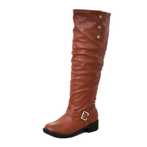 woman shoes knee boots