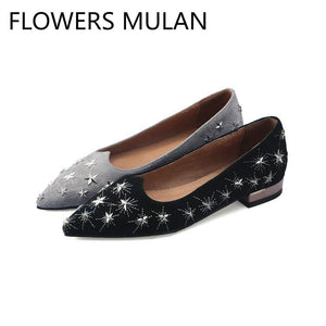 Metal Star Sewing Light Women Casual Shoes