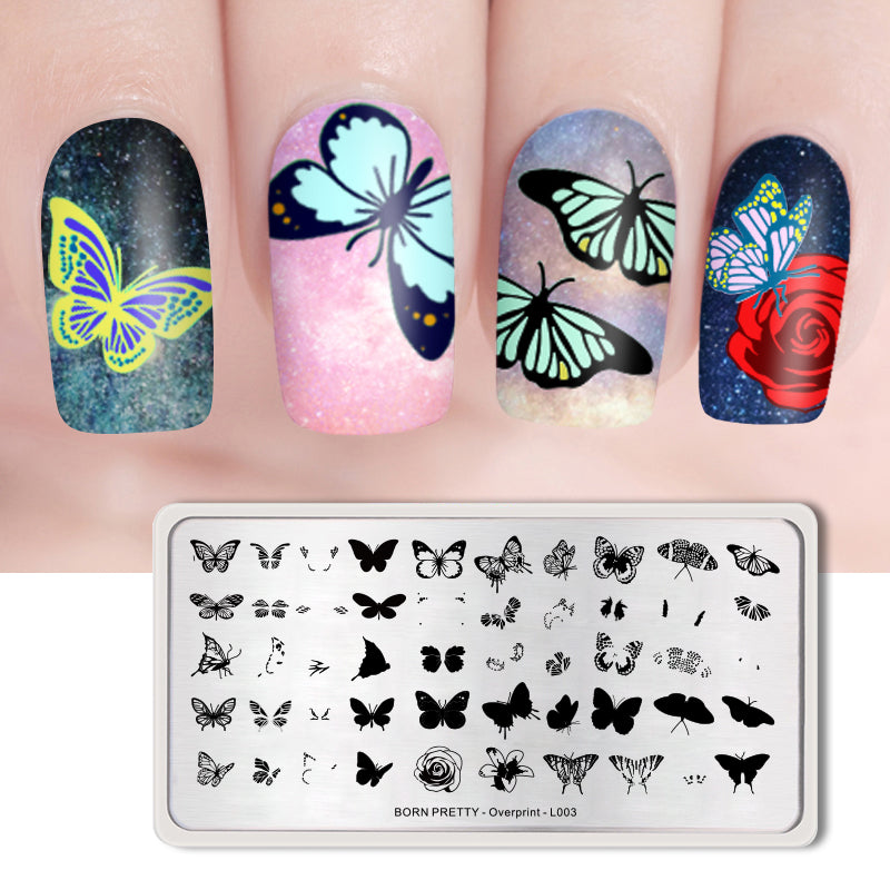 Overprint Flower Nail Stamping Plates
