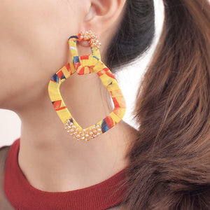 Spring Square Dangle Earrings For Women