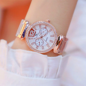 Rose gold Lady Women Dress Wristwatch