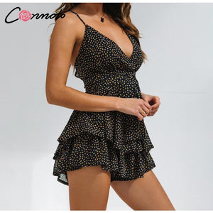 Romper Women Bow Backless Chiffon