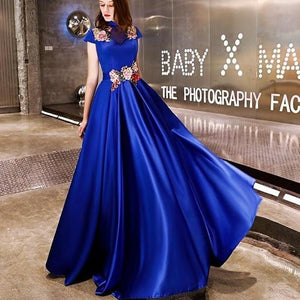 Luxury Evening Dress Embroidery Evening Gown - Narvay.com