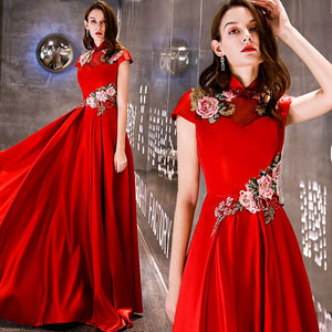 Luxury Evening Dress Embroidery Evening Gown