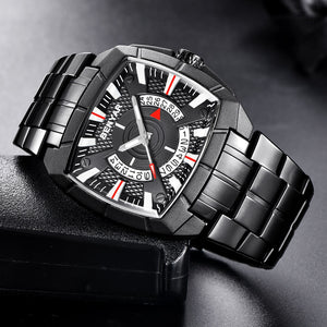 Military Watch Men Clock Stainless Waterproof Wristwatch