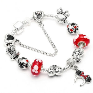 Style Mickey Mouse Charm Bracelets & Bangle