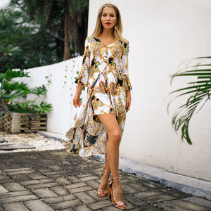 Summer Elegant Women Print Casual Ladies Jumpsuits - Narvay.com