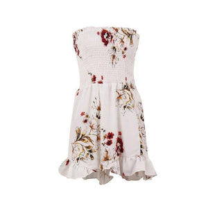 Floral Print Chiffon Playsuits Jumpsuits