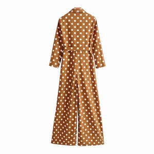 Dot Loose Jumpsuits Women