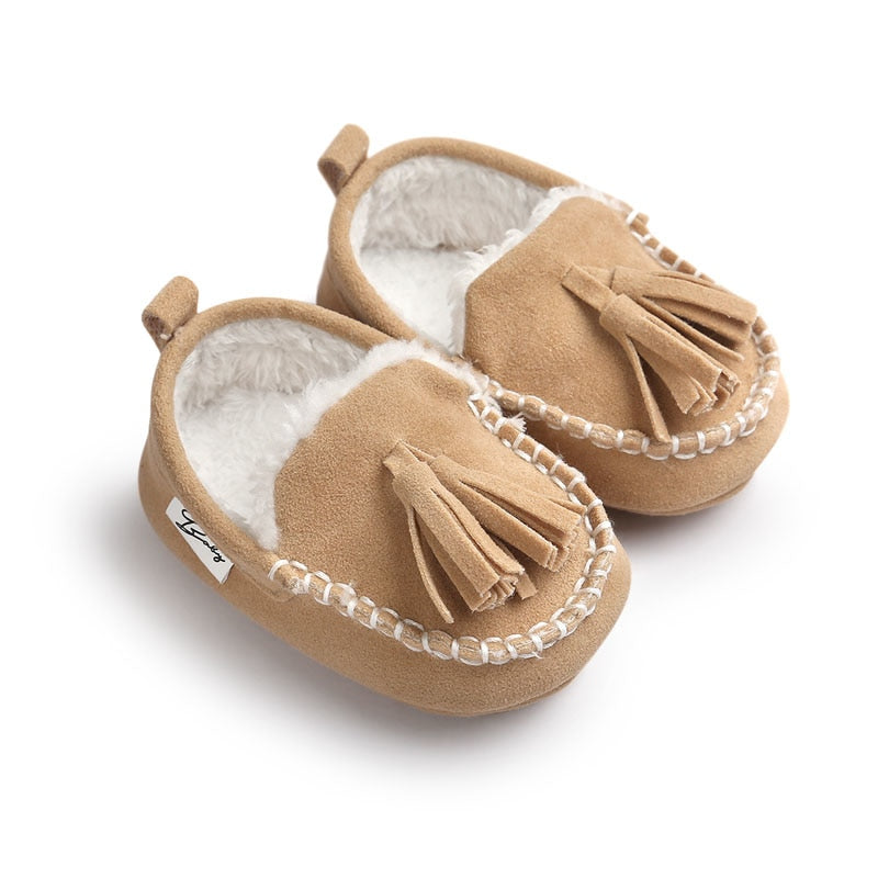 PU Suede Leather Infant Toddler Loafers