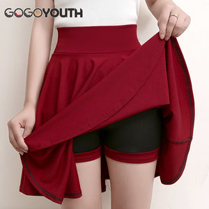 Sun School High Waist Pleated Skirt
