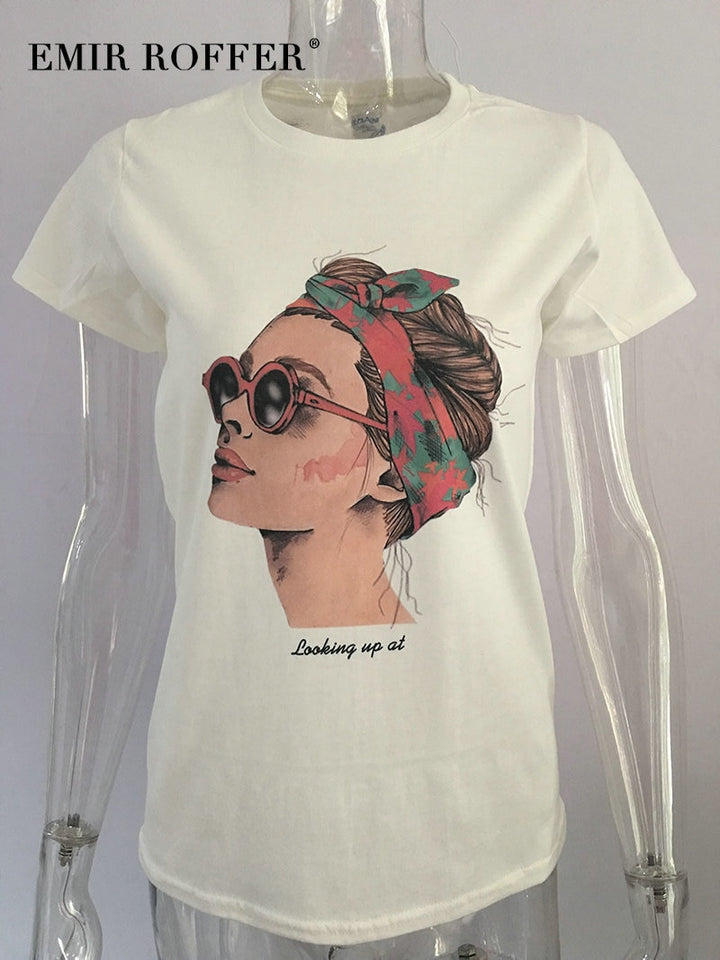 Fashion Cool Print Female T-shirt