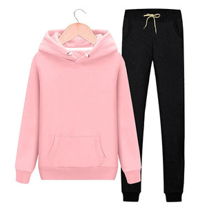 Woman Hooded Sweatshirt and Harem Pants Set