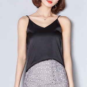 Women Silk Crop Top Women Camisole