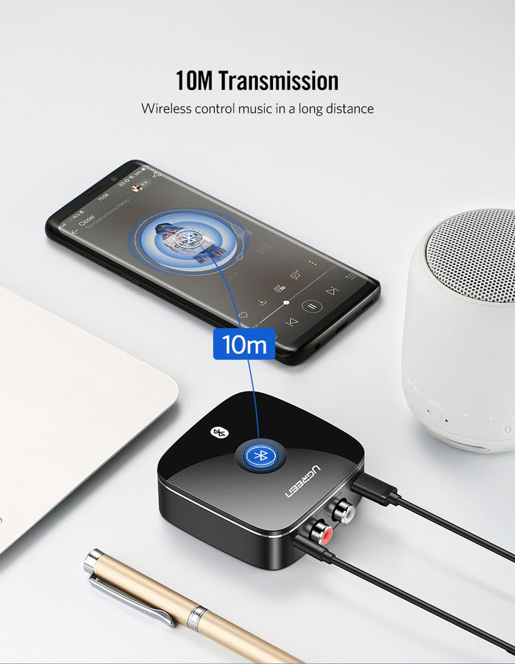 Bluetooth RCA Receiver Wireless Adapter