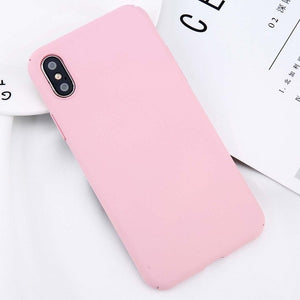 Simple Plain Phone Case Slim Frosted Hard PC Back Cover