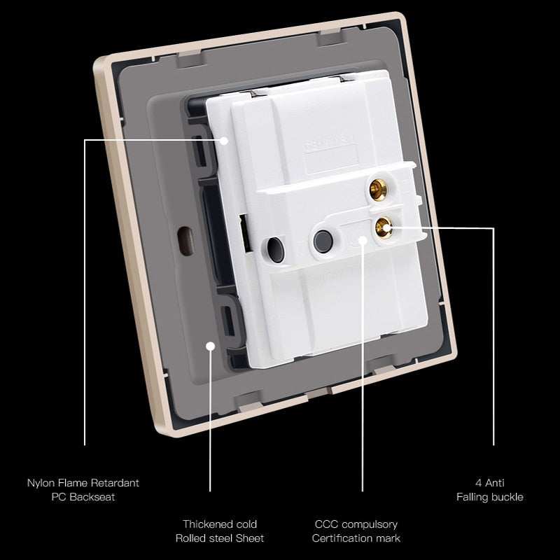 1 2 3 Gang 1 2 Way Household Switch Socket