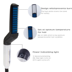 Beard  Straightening Comb Curler Quick Hair Styler For Men