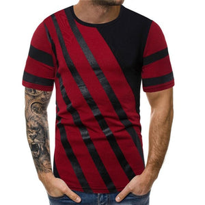 Men's summer printed short-sleeved t-shirts top