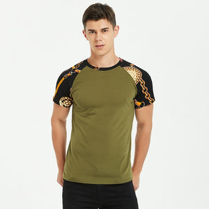 Men Cotton Short Sleeve Slim Tshirt Vintage - Narvay.com