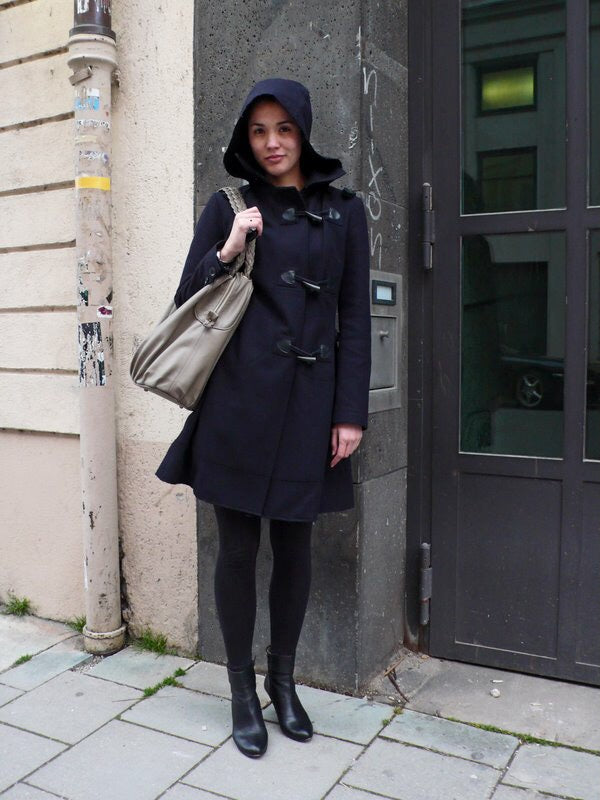 Fashionably_Pregnant_Wool_Maternity_Duffle_Coat_Blue_Toggle_Fastening