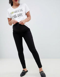 Black Pencil Maternity Trousers