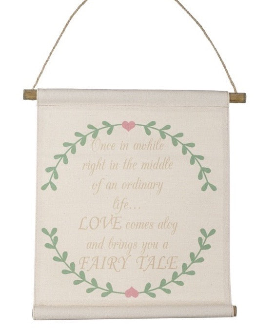 Fashionably Pregnant Love fabric Hanging Sign