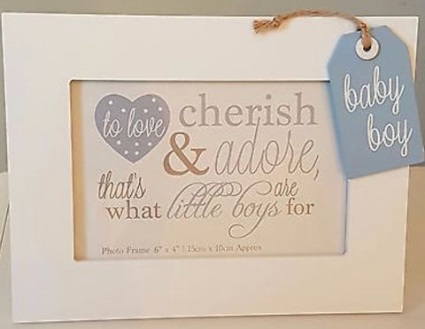 To Love Cherish and Adore Boy Photo Frame