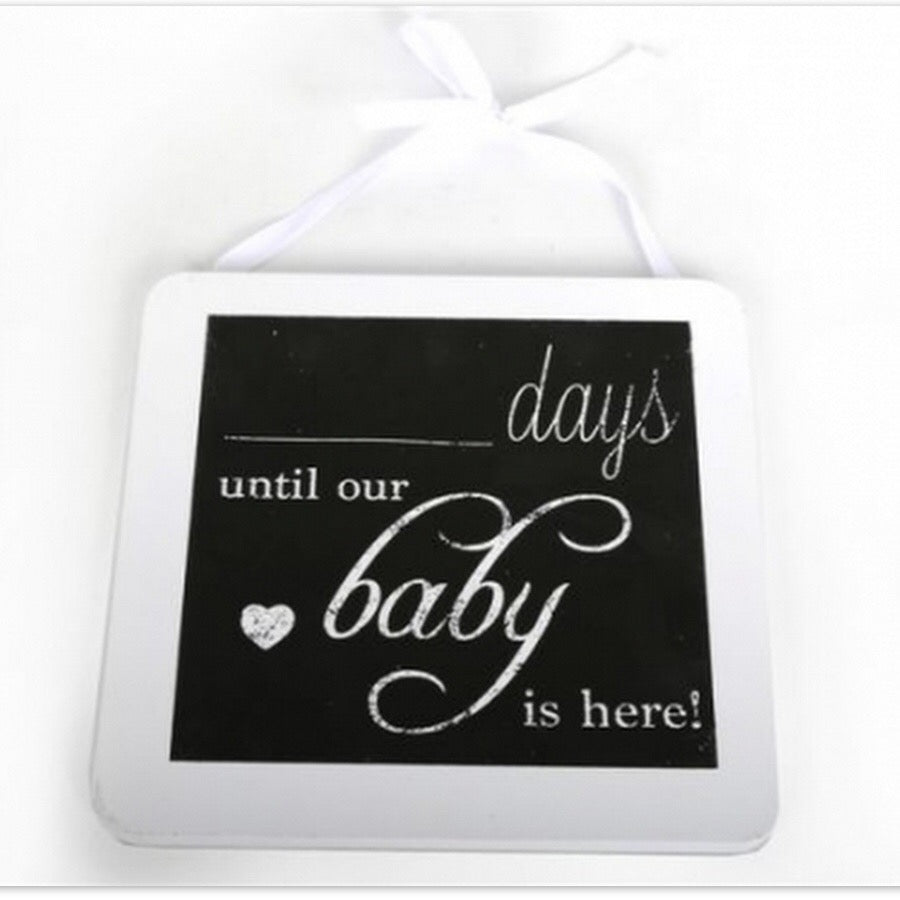 Days Until Our Baby Plaque