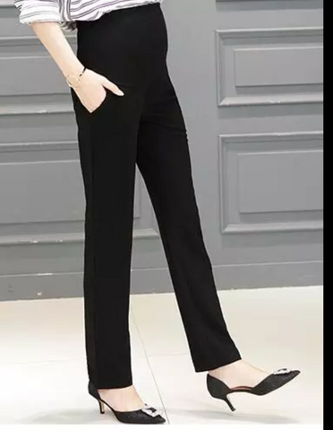 Fashionably_Pregnant_Black_Smart_Stretch_Slim_Leg_Trousers
