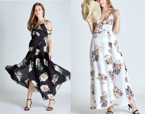 Fashionably_Pregnant_Black_Flower_Cold_Shoulder_Maxi_Dress