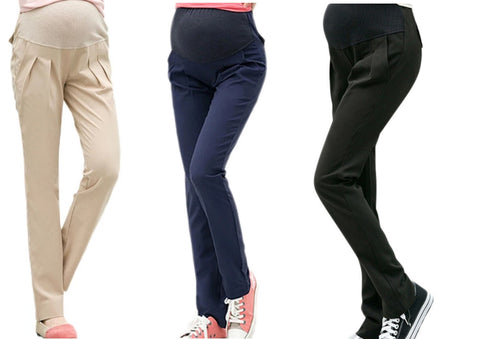 Slim Fit Over the Bump Maternity Chino Trousers, 3 Colours Black, Navy & Cream