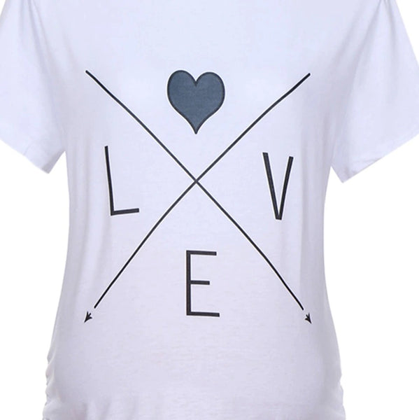 White Maternity Love T-shirt