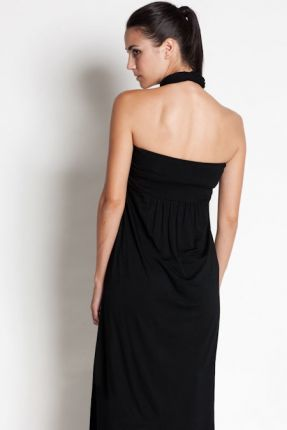 Dote Studio Sienna Halter Maxi Maternity Nursing Dress - Black