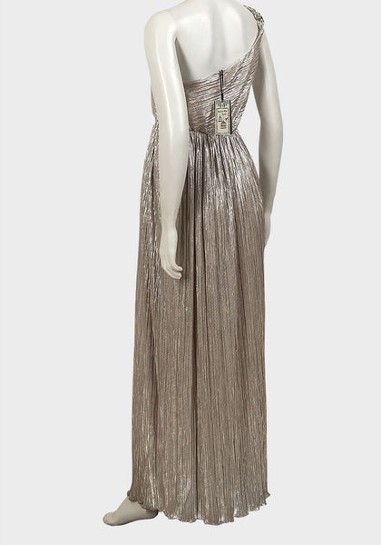 Rock-a-Bye Rosie Gabrielle One Shoulder Shimmer Maxi Dress