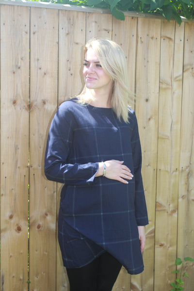 Maternity Blue Tunic with Pockets
