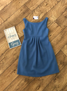 Blue Yellow Swing High Neck Fashionably Pregnant Smart green dress sleeveless