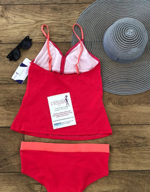 Lucina Tankini Set - Hot Pink
