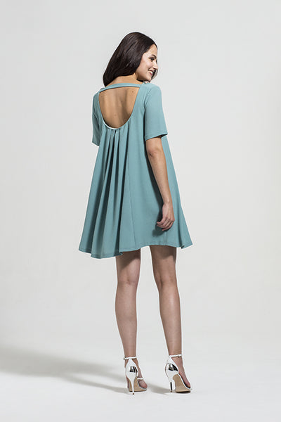 Rock A Bye Rosie Blue Beaded Neckline Leith Swing Dress