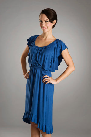 Maternalove Amelle Blue Nursing Dress